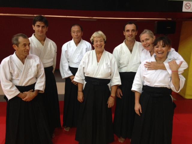 De gauche à droite: Patrick, Xavier, JM, Den, Denis, Clara, Tam