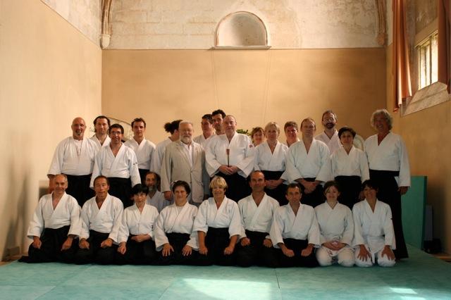 A l'Abbaye pour le 2Oe anniversaire de l'Ecole Tenchi d'Aïkido