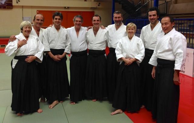 De gauche à droite: Den, Christian, Xavier, Olivier, Denis, Laurent, Colette, Romaric, JMT.Manque Clara et Patrick (photo X)