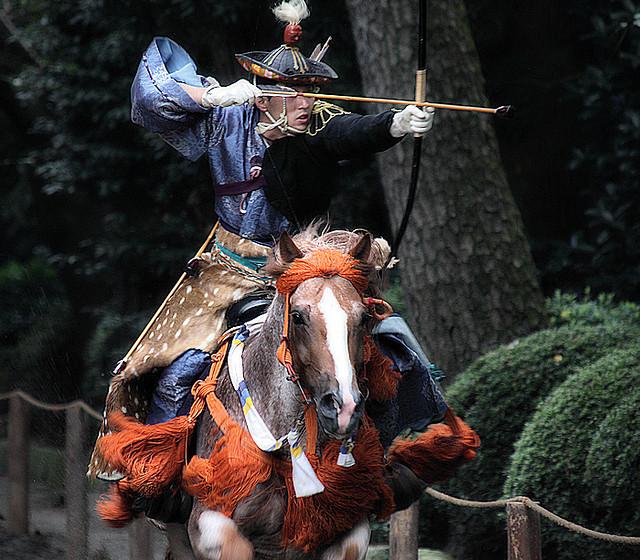 Yabusame ou tir à l'arc cérémoniel à cheval